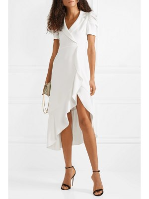 Alice + Olivia alice olivia - solaris wrap-effect ruffled crepe midi dress