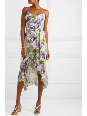 Alice + Olivia alice olivia - tevi ruffled printed georgette midi dress