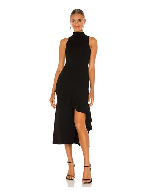 Alice + Olivia angelia double knit ruffle dress
