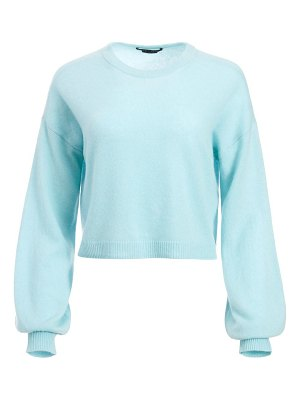 Alice + Olivia ansley puff-sleeve crop sweater