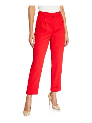 Alice + Olivia Ardell High-Waist Pleated Pants