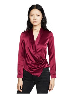 Alice + Olivia aurora mock wrap top