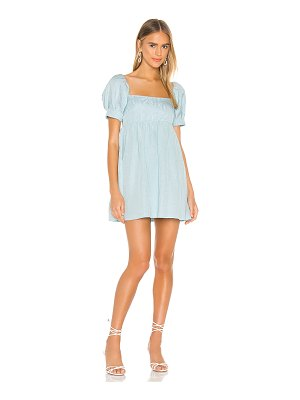 Alice + Olivia bauery puff sleeve babydoll dress