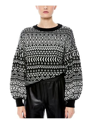 Alice + Olivia blouson sleeve sweater