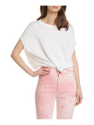 Alice + Olivia cammy tie front knit top