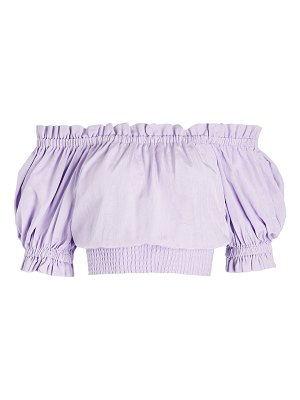 Alice + Olivia caprina off shoulder smock top
