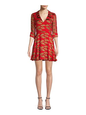 Alice + Olivia catina faux-wrap dress