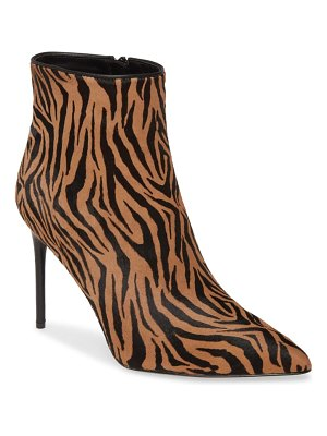 Alice + Olivia celyn genuine calf hair bootie