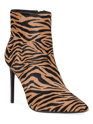 Alice + Olivia Celyn Tiger Stiletto Booties