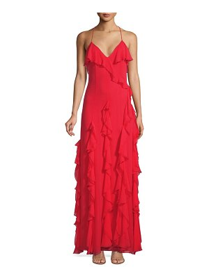 Alice + Olivia Claudine Ruffle Gown