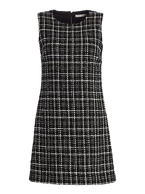 Alice + Olivia coley tweed a-line mini dress