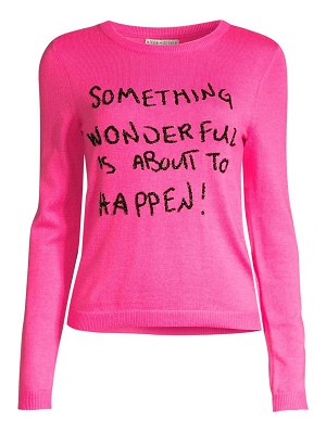 Alice + Olivia connie embellished slogan sweater