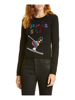 Alice + Olivia connie embellished stretch wool sweater
