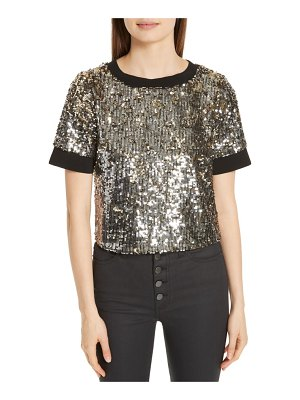 AO.LA by alice + olivia ao. la danica sequin crop top