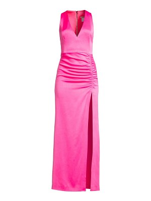 Alice + Olivia diana sleeveless ruched gown