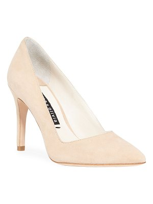 Alice + Olivia Dina Suede Pointed Pumps