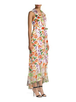 Alice + Olivia evelia asymmetric floral maxi dress