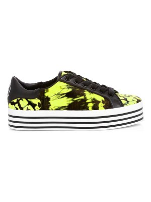 Alice + Olivia falyn tie-dyed leather platform sneakers