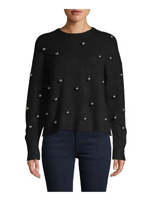 Alice + Olivia Faux Pearl-Embellished Top