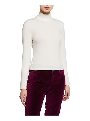Alice + Olivia Garrison Slim Mock-Neck Top