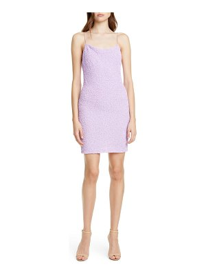 Alice + Olivia harmie cowl neck sequin minidress