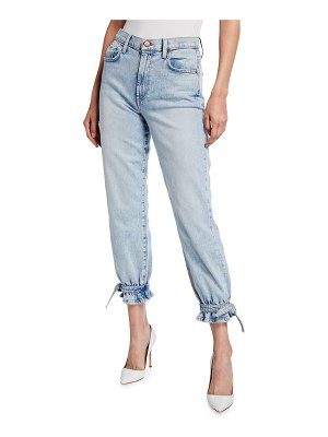 ALICE + OLIVIA JEANS Amazing High Rise Ankle Tie Jeans
