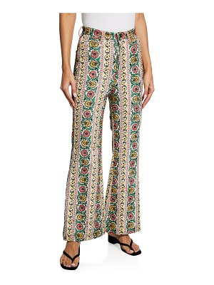 ALICE + OLIVIA JEANS Benedict High-Waist Exaggerated Flare Jeans