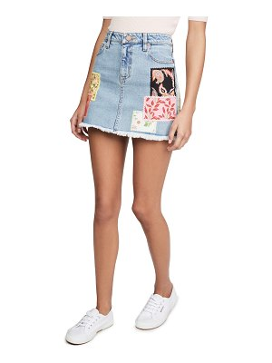 ALICE + OLIVIA JEANS good high miniskirt with patchwork