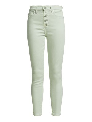 ALICE + OLIVIA JEANS good high-rise button-fly skinny jeans