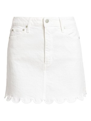 ALICE + OLIVIA JEANS good high-rise scallop skirt