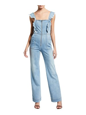 ALICE + OLIVIA JEANS Gorgeous Open-Back Denim Jumpsuit