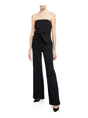 ALICE + OLIVIA JEANS Gorgeous Strapless Wide-Leg Jumpsuit