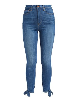 ALICE + OLIVIA JEANS good high-rise ankle tie jeans