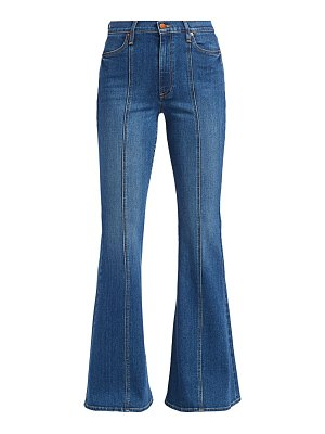 ALICE + OLIVIA JEANS high-rise seamed bell bottom jeans