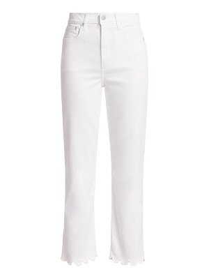 ALICE + OLIVIA JEANS stunning high-rise scallop cropped skinny jeans