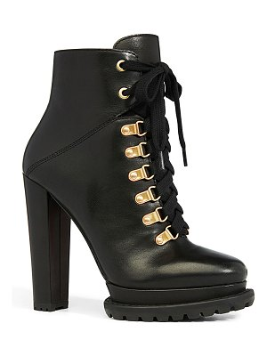 Alice + Olivia Jensa Lace-Up Booties