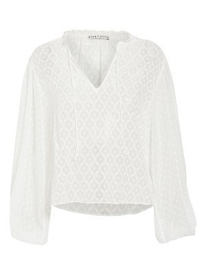 Alice + Olivia julius exaggerated blouson sleeve tunic top
