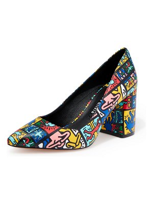 Alice + Olivia Keith Haring x Alice +Olivia Collage Pumps