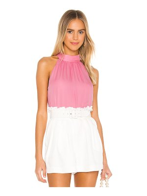 Alice + Olivia kinsley gathered halter top