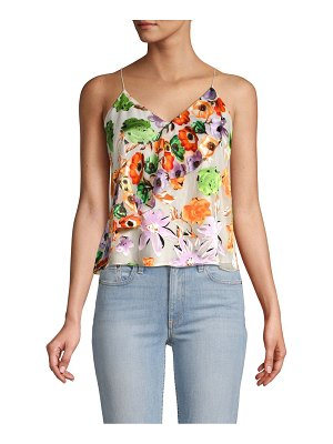 Alice + Olivia Lavonia Floral Cascading Ruffle Camisole