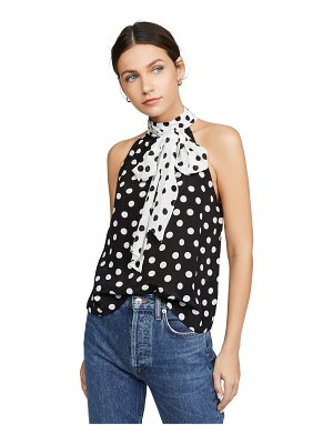 Alice + Olivia liana bow neck top