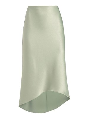 Alice + Olivia maeve satin high-low slip skirt