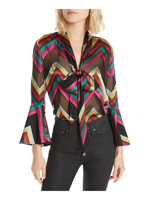 Alice + Olivia meredith silk blend bow blouse
