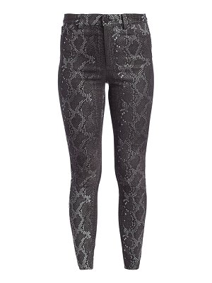 Alice + Olivia mikah high-rise snakeskin-print leather pants
