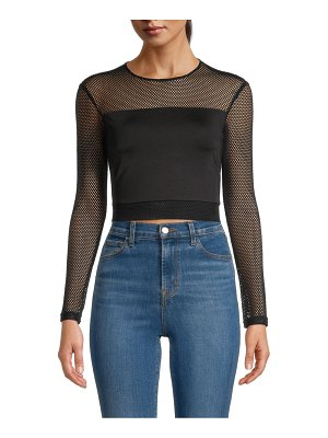 Alice + Olivia Net Cropped Top