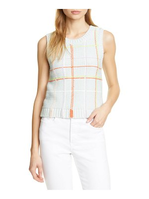 Alice + Olivia rosalina sleeveless cotton blend sweater