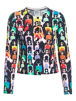 Alice + Olivia ruthy stace face cardigan