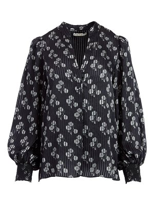 Alice + Olivia shelia abstract floral blouse