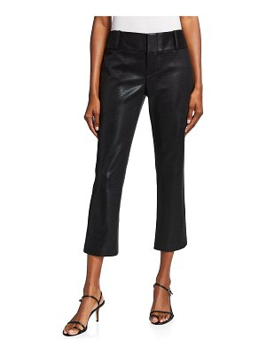 Alice + Olivia Stacey Faux Leather Slim Cropped Pants