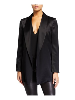 Alice + Olivia Wheaton Shawl-Collar Wrap Blazer